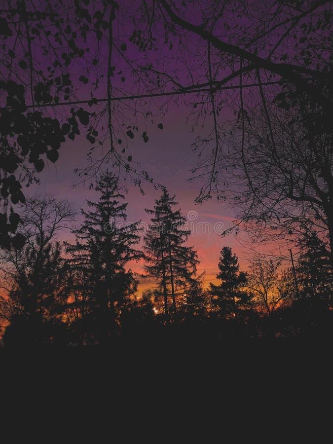 couleurs célestes au-dessus de la Serbie photos stock