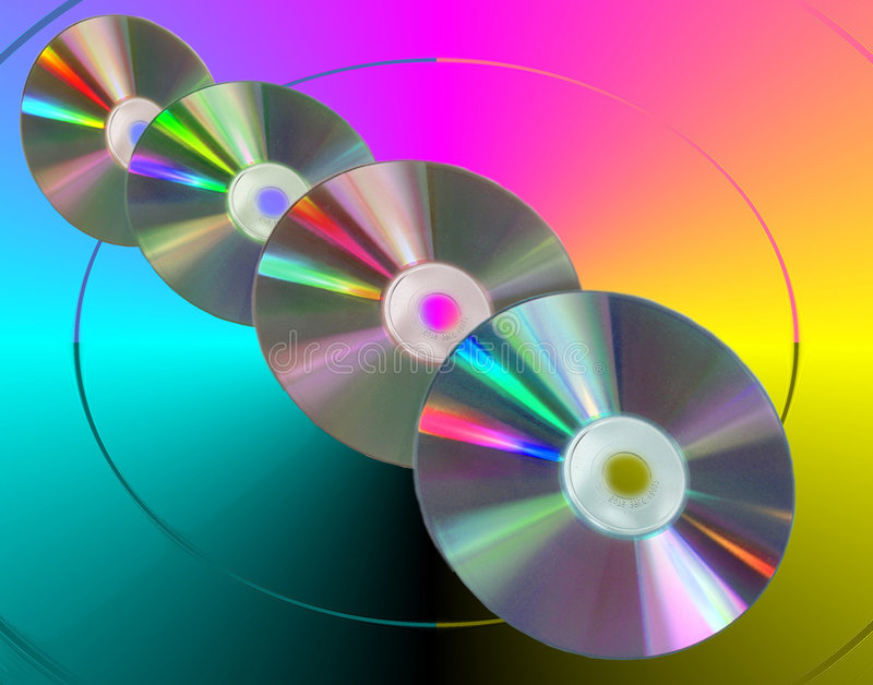 Couleurs CD illustration de vecteur