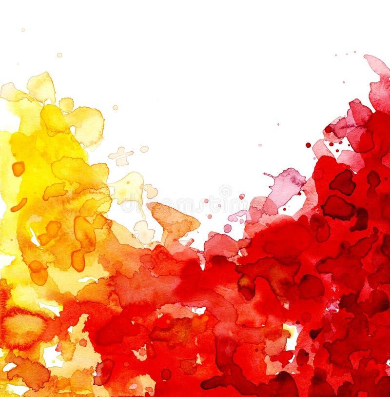 Couleurs Chaudes D\'aquarelle Illustration Stock - Illustration du ...