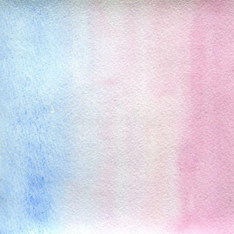 Couleurs claires, bleu-clair et roses d'étirage transparent de texture d'aquarelle fond abstrait, tache, tache floue, suffisance illustration libre de droits