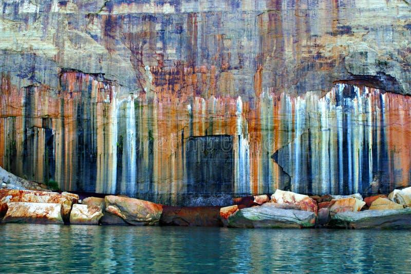 Couleurs décrites de national de roches Lakeshore image stock