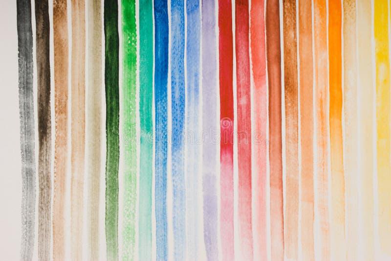 Couleurs d'aquarelle photographie stock libre de droits