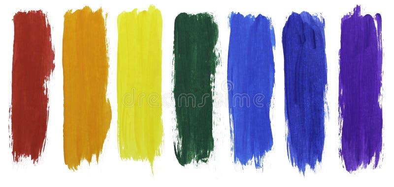 Couleurs d'arc-en-ciel de peinture acrylique illustration libre de droits