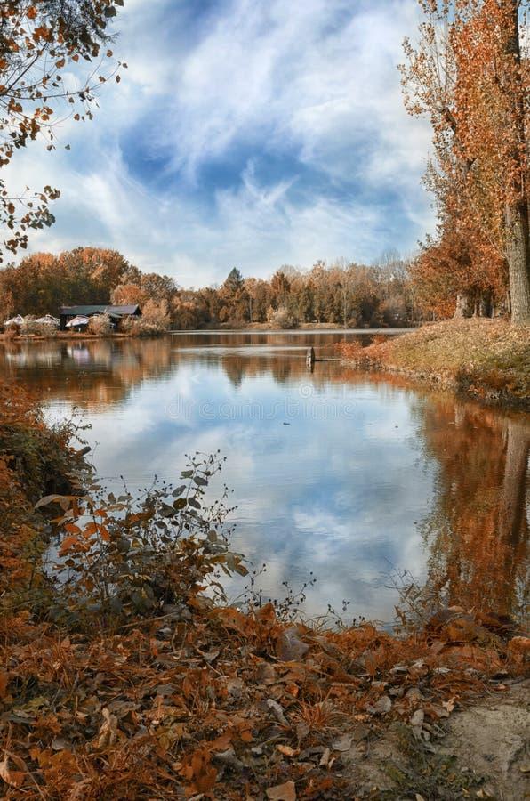 Couleurs d'automne en parc images stock
