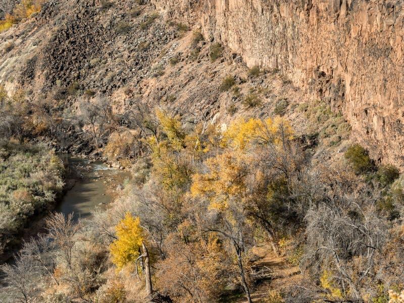 Couleurs d'automne et la rivière de Vierge en parc de confluent images stock