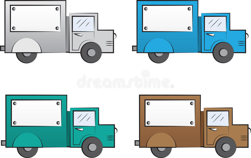 Couleurs de camion illustration libre de droits