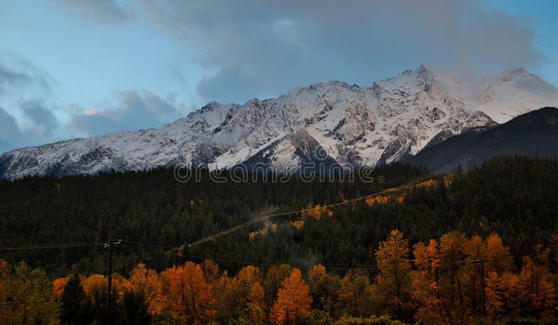 Couleurs de chute sous Mt Currie image stock