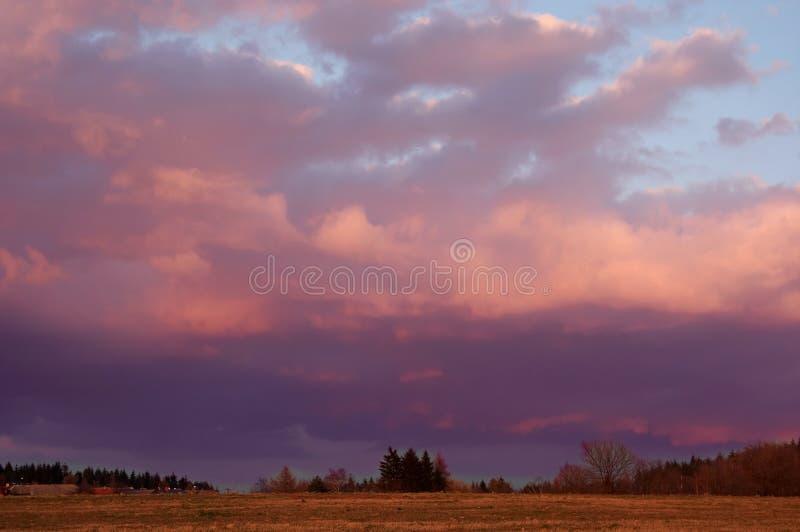 Couleurs de coucher du soleil images libres de droits
