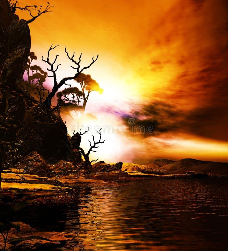 couleurs de crépuscule illustration libre de droits