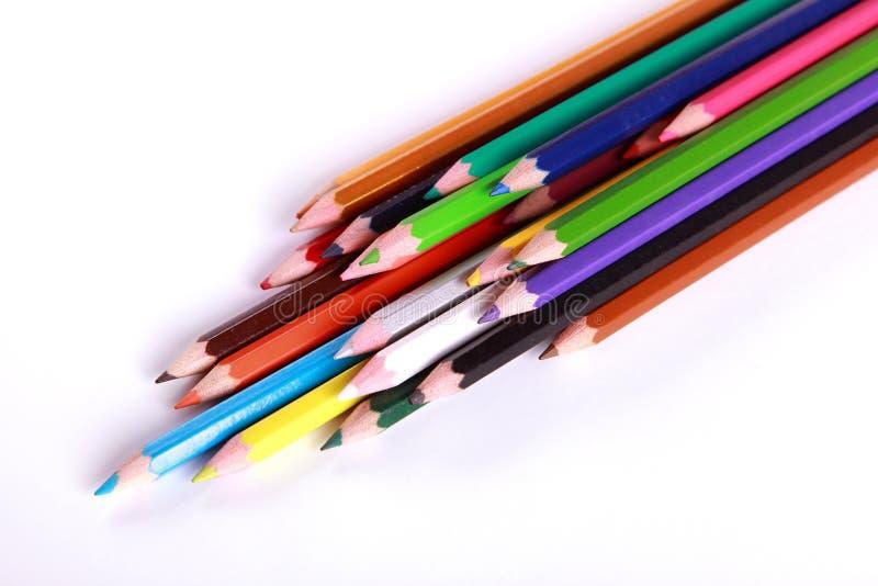 Couleurs de crayons photographie stock libre de droits
