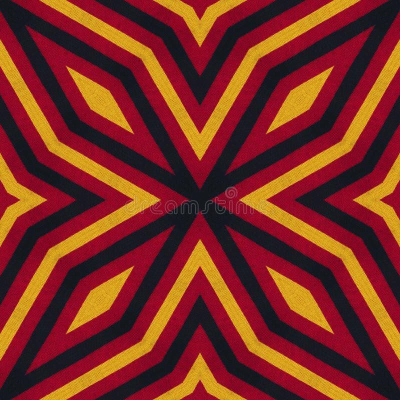 Couleurs de drapeau de l'Allemagne Fond de style tricoté par crochet, vue supérieure Collage avec la réflexion de miroir Montage  illustration libre de droits