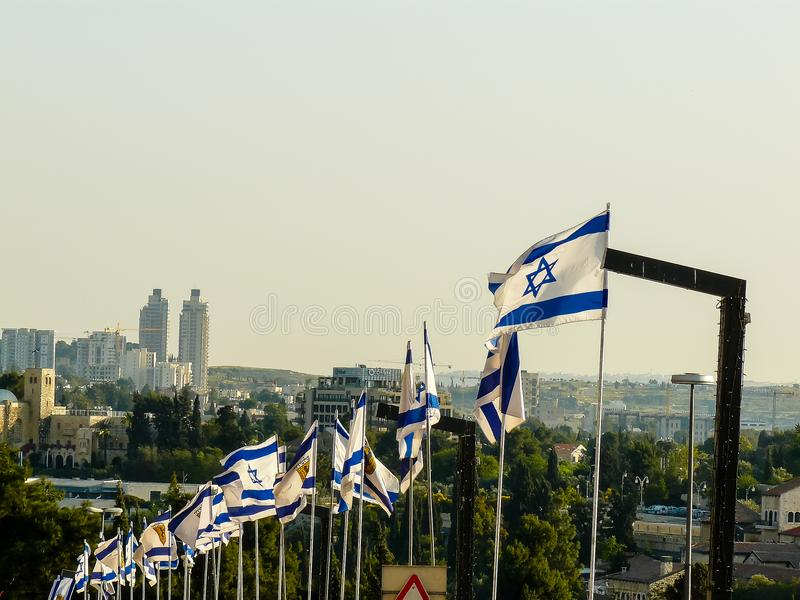 Couleurs de l'Israël images libres de droits