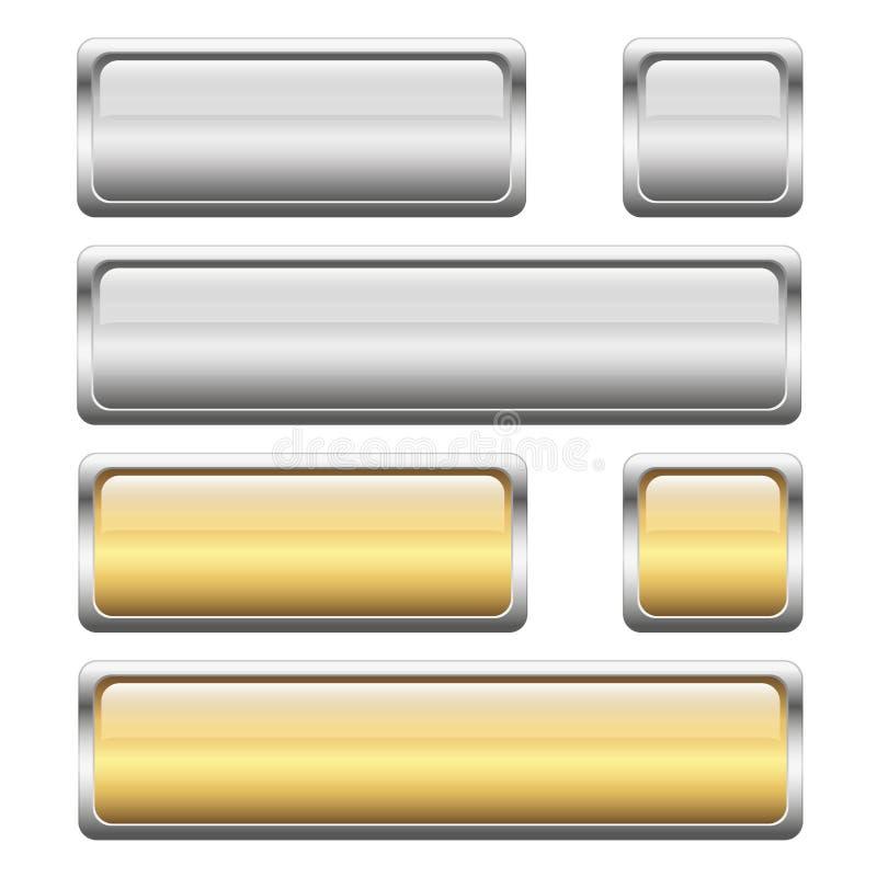 couleurs de la collection 2 de bouton illustration de vecteur