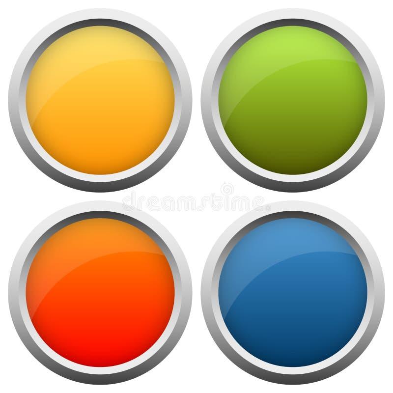 couleurs de la collection quatre de bouton illustration libre de droits