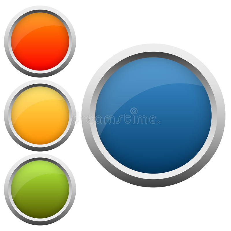 couleurs de la collection quatre de bouton illustration de vecteur