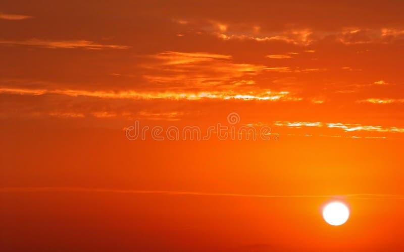 Couleurs de lever de soleil photos stock