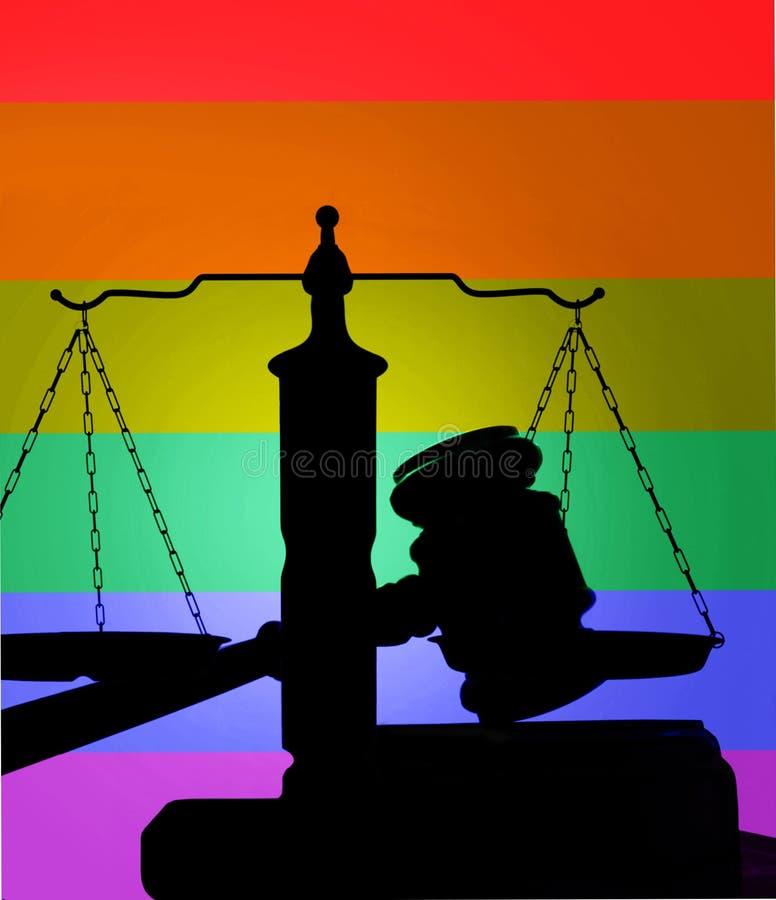 Couleurs de LGBT sur le marteau photo stock