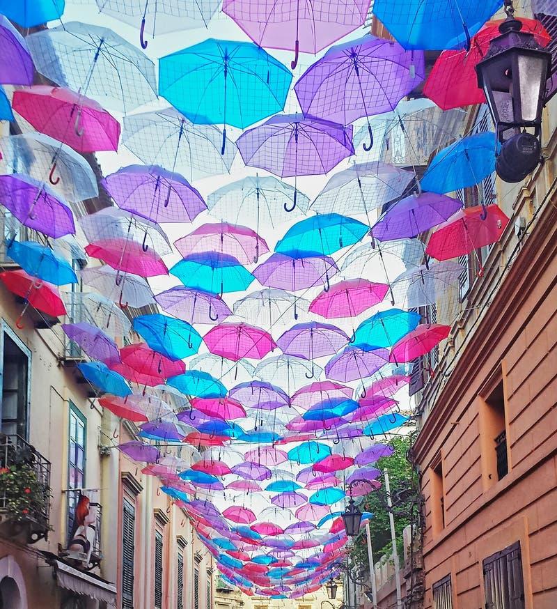 Couleurs de parapluie image libre de droits