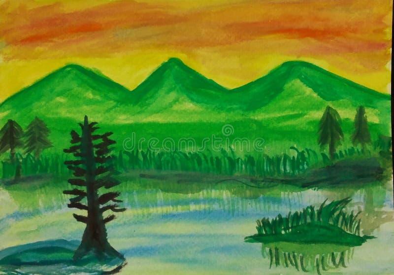 Couleurs de paysages frais et Evergreen photos libres de droits