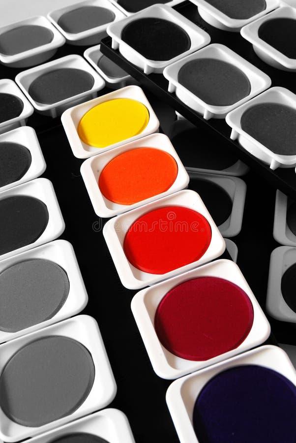 Couleurs de peinture photographie stock libre de droits
