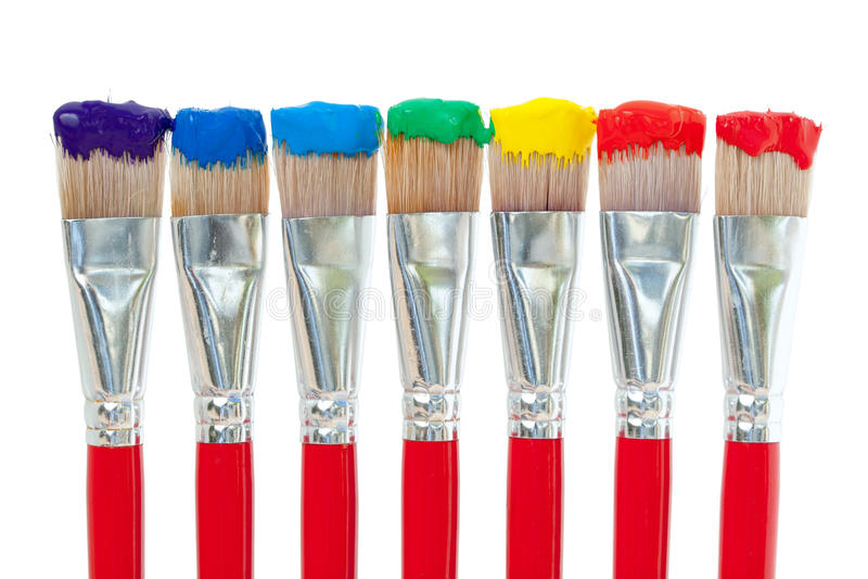 Couleurs de peinture d'arc-en-ciel photographie stock