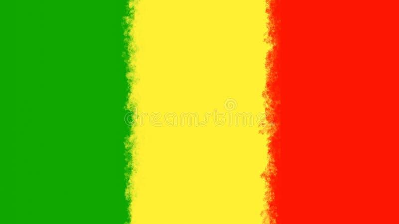 Couleurs de rasta de fond de reggae illustration libre de droits