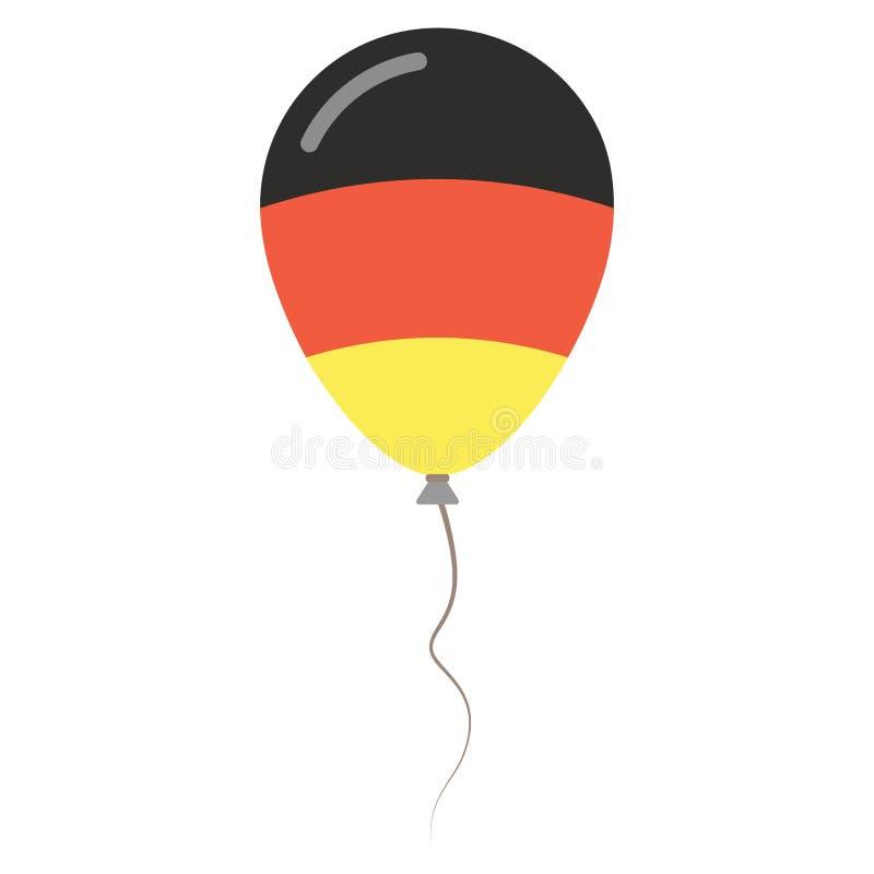 Couleurs de ressortissant de la république Fédérale d'Allemagne illustration de vecteur