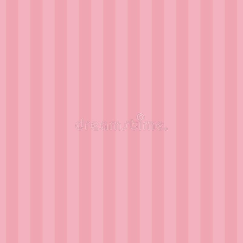 Couleurs de ton douces du rose deux de rayure sans couture de modèle Illustration verticale de vecteur de fond d'abrégé sur rayur illustration stock