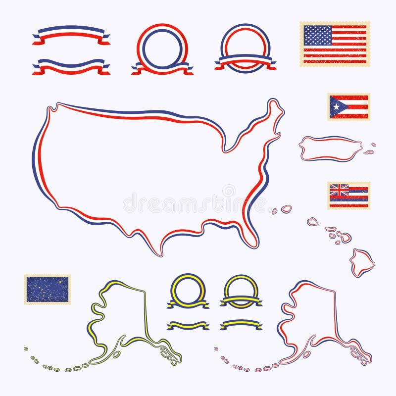 Couleurs des Etats-Unis illustration libre de droits