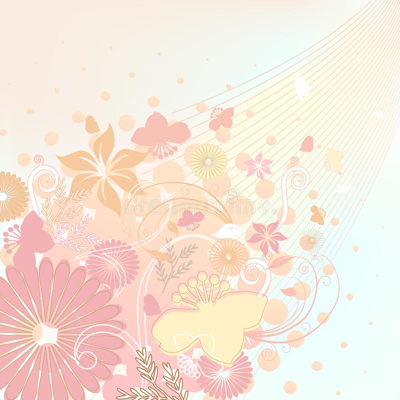 Couleurs douces de conception florale illustration libre de droits