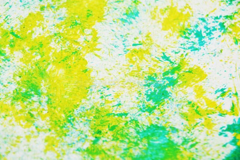 Couleurs douces grises vertes blanches jaunes, fond de peinture brouillé d'aquarelle, fond abstrait d'aquarelle de peinture photos stock