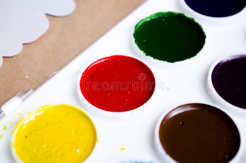 Couleurs du miel 12 d'aquarelle Couleurs lumineuses Palette de couleur Couleurs lumineuses sur la palette Harmonie de couleur Nou photo libre de droits