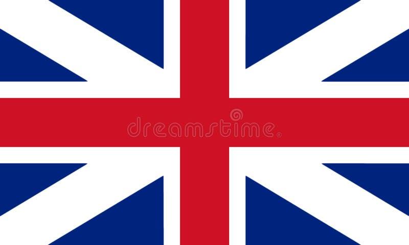 Couleurs du ` s de roi de drapeau de la Grande-Bretagne Défectuosité civile et d'état du drapeau 3D photos stock