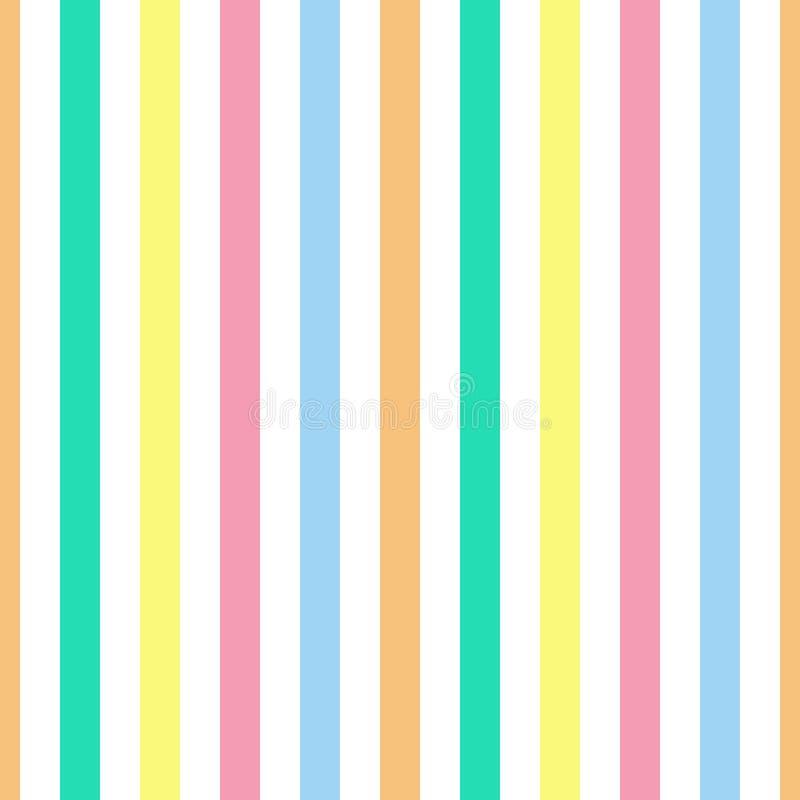 Couleurs en pastel colorées de rayure sans couture de modèle Illustration verticale de vecteur de fond d'abrégé sur rayure de mod illustration libre de droits