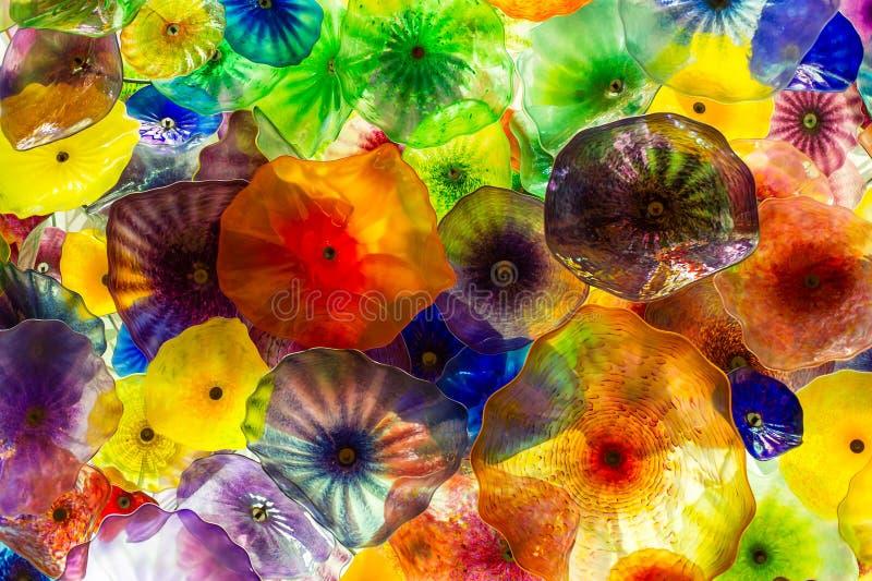 Couleurs en verre abstraites image stock
