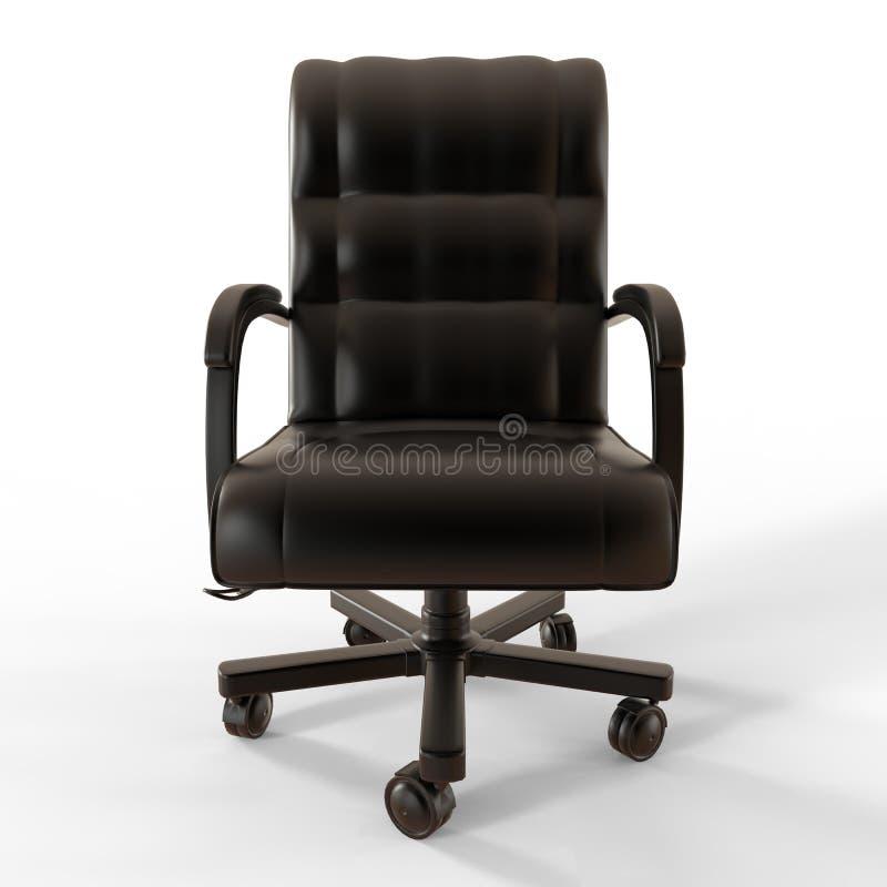 Couleurs métalliques de noir de chaise de bureau illustration de vecteur