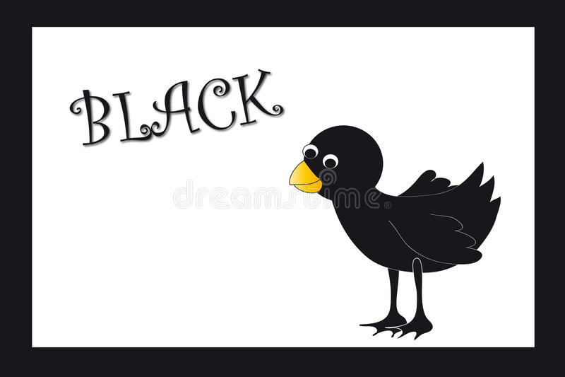 Couleurs : noir illustration de vecteur