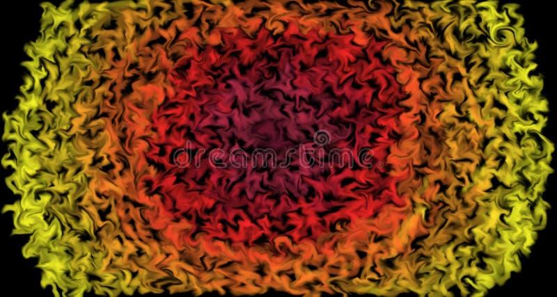 Couleurs palpitantes montant - le soleil brûlant conçoivent avec des couleurs comme flammes Fond abstrait, en rouge, l'orange et  illustration libre de droits