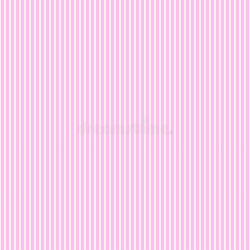 Couleurs roses de rayure de modèle et blanches sans couture illustration de vecteur
