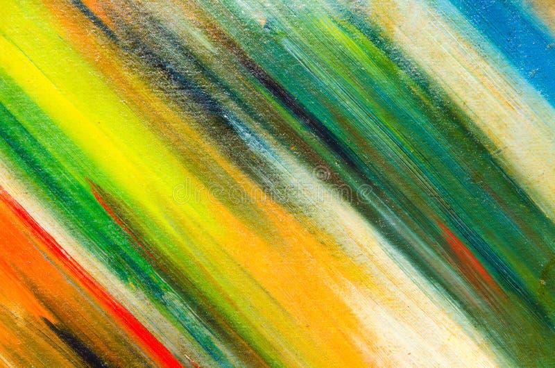 couleurs sur la toile localisée diagonalement : couleurs vertes et jaunes illustration stock