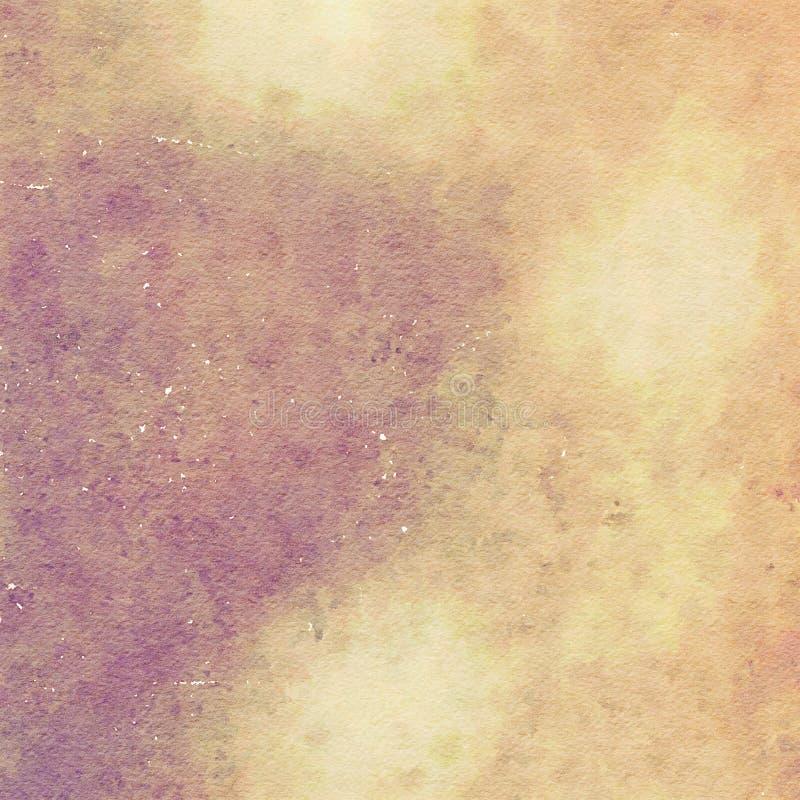 Couleurs terreuses de fond d'aquarelle image stock