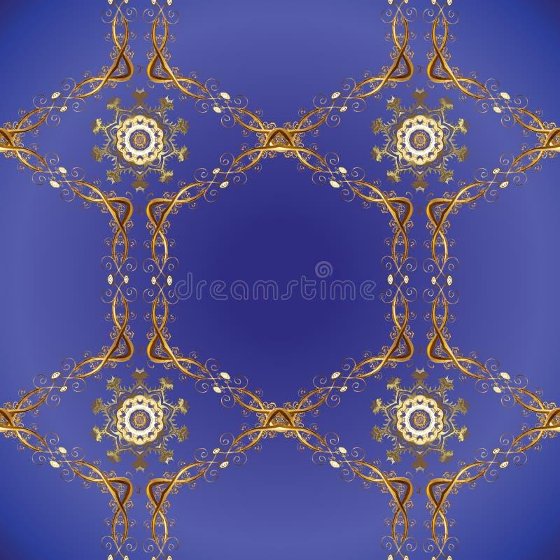 Couleurs violettes, bleues et brunes avec les ?l?ments d'or illustration libre de droits