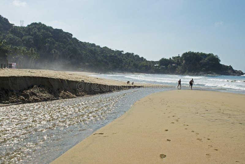 Coulez l'écoulement dans l'océan pacifique photographie stock libre de droits