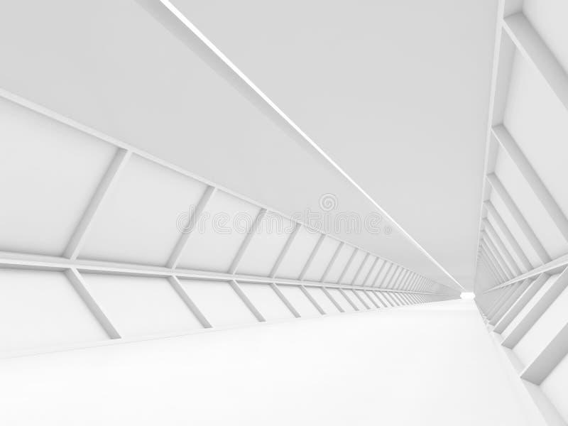 Couloir blanc vide abstrait, 3d de pointe illustration stock