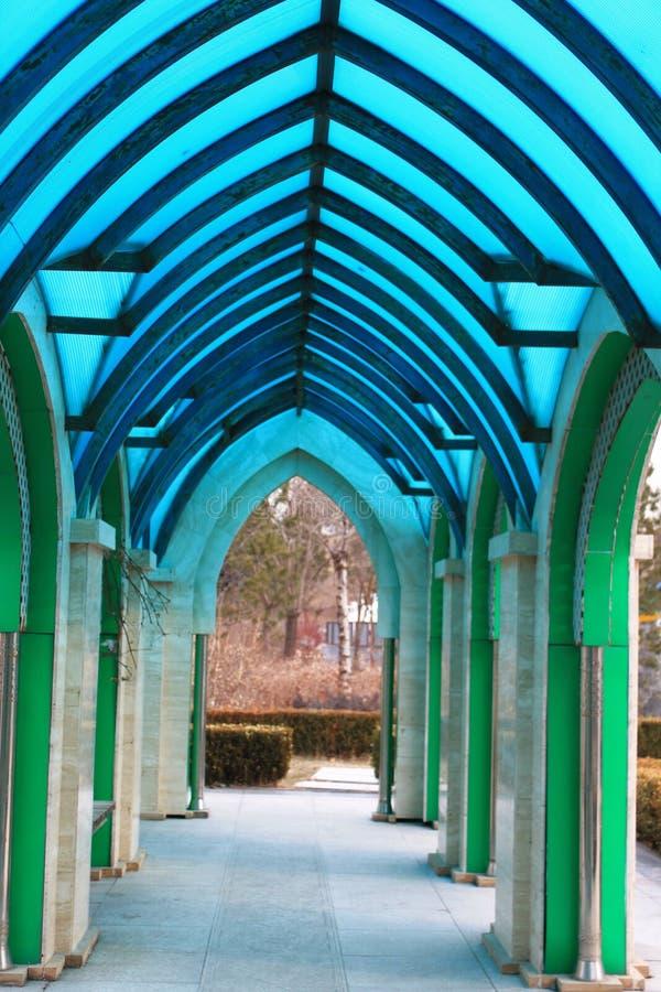 Couloir bleu image libre de droits