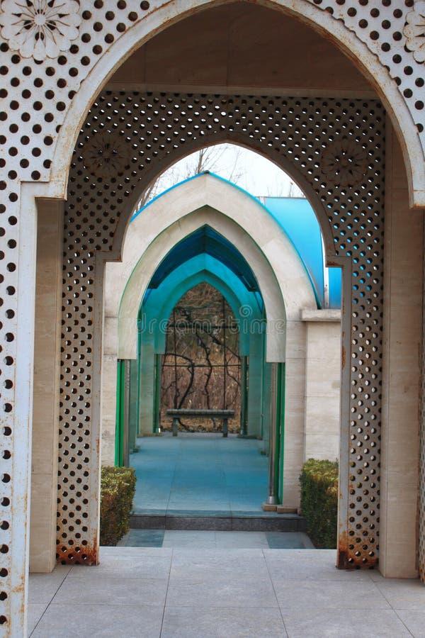Couloir bleu image stock