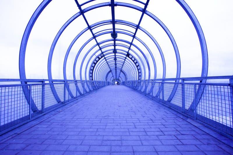 Couloir bleu photo stock