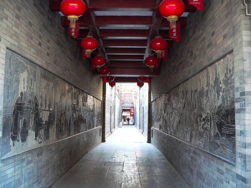 Couloir chinois de temple images stock