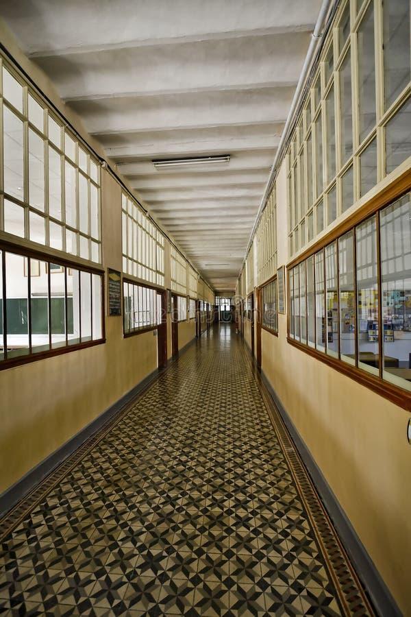 Couloir d'école photo libre de droits