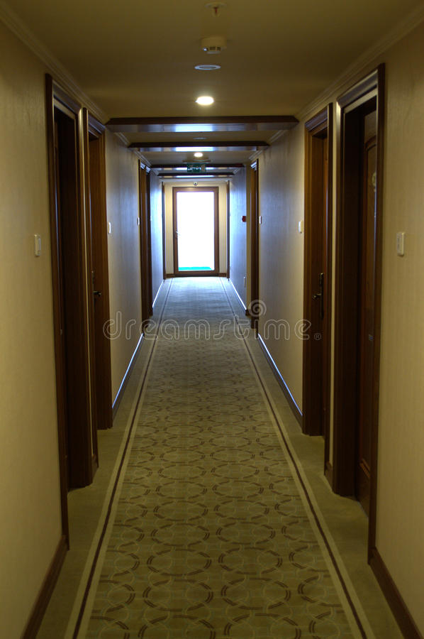 Couloir d'hôtel photographie stock libre de droits